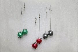 Pendientes perla de color
