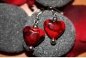Pendientes corazón moteado