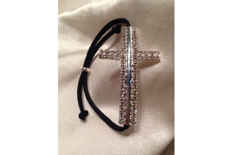 Pulsera Cruz Strass